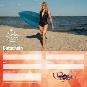 Geschenkgutschein zum Kiten, Windsurfen , Segeln und Stand Up Paddeln